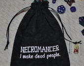 NECROMANCER Dungeons and Dragons game dice bag
