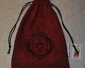 Muladhara Root chakra healing red bag