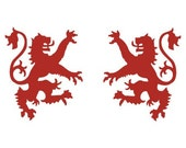 Scottish heraldic lion red vinyl decals