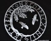 XXL Yggdrasil Hugin Munin Viking runes t-shirt