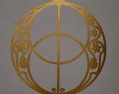 Vesica piscis chalice well sacred geometry copper vinyl decal