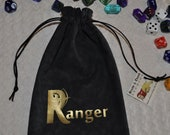 RANGER Dungeons and Dragons game dice bag
