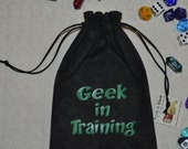 GEEK in TRAINING Dungeons and Dragons game dice bag