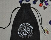 Vegvisir Viking compass futhark rune bag