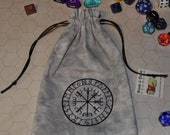 Viking compass vegvisir futhark rune bag
