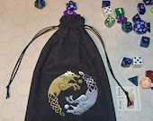 Viking wolf Skoll Hati rune dice bag