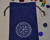 Viking vegvisir futhark rune tarot bag