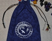 Viking Yggdrasil Hugin Munin rune dice bag