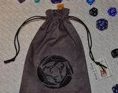 Corvus 3 raven tarot rune dice bag