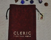 CLERIC Dungeons and Dragons game dice bag