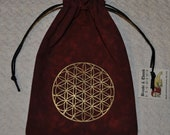 Flower of Life sacred geometry tarot dice bag