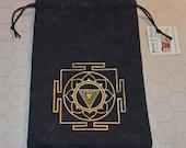 Kali yantra sacred geometry tarot bag