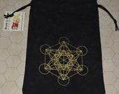 Metatron's Cube flower of life sacred geometry reversible bag