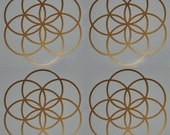 Seed of life SET of 4 sacred geometry copper vinyl decals