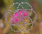 Seed of life SET of 6 sacred geometry etched glass vinyl decals