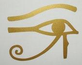 Egyptian Eye of Ra Horus gold vinyl decal
