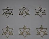 Merkabah star tetrahedron sacred geometry SET of 6 gold vinyl decal