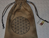 Flower of life sacred geometry reversible bag