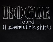 XXL D&D ROGUE thief t-shirt