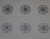 Seed of life SET of 6 silver vinyl decal