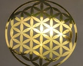 Flower of life gold mirror vinyl decal