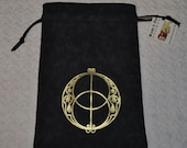 Chalice well sacred geometry tarot dice bag