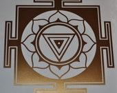 Kali Yantra mandala copper vinyl decal