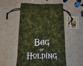 BAG of HOLDING Dungeons and Dragons game dice bag