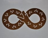 Ouroboros infinity copper vinyl decal