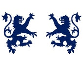 Scottish heraldic lion sapphire vinyl decals