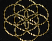 Seed of life SET of 4 gold mirror vinyl decal