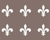 Medievel fleur de lys SET of 6 white vinyl decals