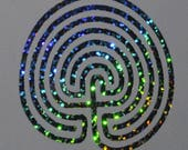 7 circuit labyrinth confetti vinyl decal