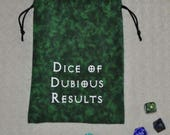 DUBIOUS DICE Dungeons and Dragons game bag