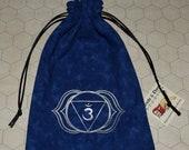 Ajna third eye chakra intuition blue bag