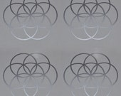 Seed of life SET of 4 sacred geometry silver vinyl decals