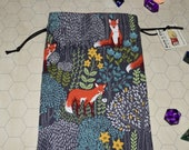 Fox Into the Woods tarot rune dice bag