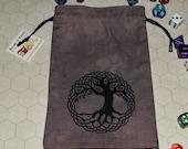 Celtic knot tree of life tarot rune dice bag