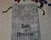 BAG of HOLDING Dungeons and Dragons game dice