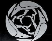 Corvus ravens silver vinyl decal