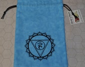 Vishuddha throat chakra healing blue bag