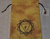 Manipura solar plexus chakra healing yellow bag
