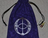 Chalice well flower of life reversible bag