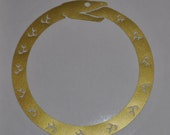 Ouroboros gold vinyl decal