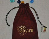 BARD Dungeons and Dragons game dice bag