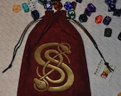 Celtic knot Viking snakes dice bag