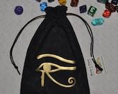 Egyptian Eye of Horus dice bag