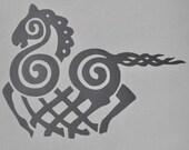 Sleipnir Viking horse silver vinyl decal
