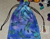 Dragonfly tarot rune dice bag