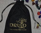 DRUID Dungeons and Dragons game dice bag
